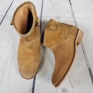 ZARA GIRLS tan chukka boots EU 38, US 5Y